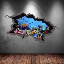 3d aquarium wall sticker wsd236 printedgifts net 3d aquarium wall sticker wsd236