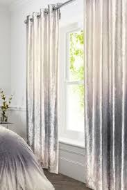 Grey Ombre Curtains Buy Ombre Velvet Blackout Lined Eyelet Curtains From Next Usa