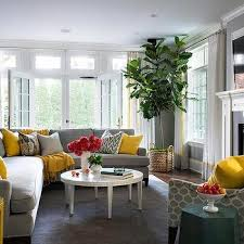 yellow and gray pillows design ideas