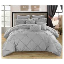 home design comforter valentina pinch pleated ruffled 10 comforter set chic