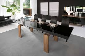dining room awesome black leather dining chairs red leather