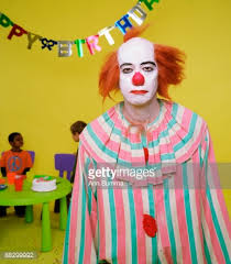 clowns for birthday depressed clown at a birthday party stock photo getty images