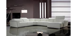 U Shaped Leather Sectional Sofa Tempo White Italian Leather Large U Shape Sectional Sofa