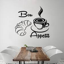 new arrival coffee croissant wall decals french bon appetit vinyl
