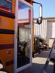 rv door glass anyone ever used the bifold door as camper door bus