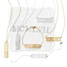 roamn numeral horizontal numeral necklace and graham