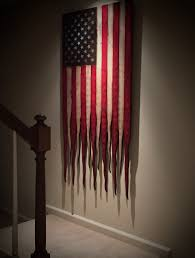 Wooden American Flag Wall Hanging Verticle Hanging American Flag American Flag Sign Rustic