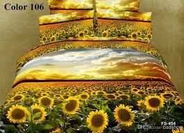3d Bedroom Sets by Fedex Free Cotton 3d Bedding Sets Sunflower Designs Home Textiles
