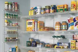 kitchen pantry shelving ideas tips ideas wire shelving in a kitchen pantry metal basket