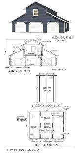 loft barn plans 3 car monitor garage with loft plan 1600 1 by behm design garage