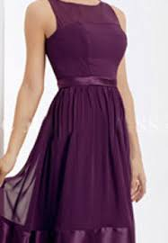 purple dresses for weddings knee length dreamlike siren straps scoop neckline column purple chiffon knee
