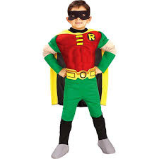 Boys Halloween Costume Batman Robin Deluxe Child Halloween Costume Walmart