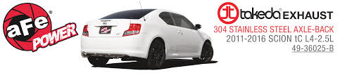 new product takeda axle back exhaust system 2011 2016 scion tc l4