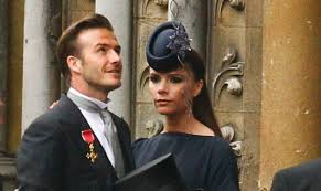 beckham wedding dress david and beckham dress the part for royal wedding