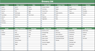 grocery list template doliquid