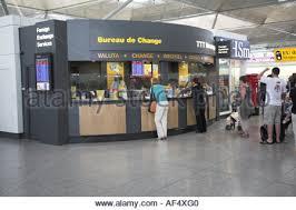 bureau de change 8 bureau de change stansted airport stock photo royalty