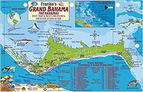 bahamas on map grand bahama island dive map reef creatures guide franko maps