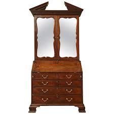 english george iii mirrored mahogany secretary bookcase circa