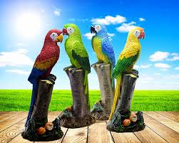 parrot home decor 52 16 21cm big size resin parrot home decoration crafts parrot