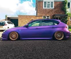 purple subaru impreza bagged u0026 dipped scooby hatch japanese alliance