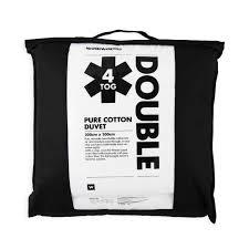 4 Tog Double Duvet Lightweight Cotton 4 Tog Duvet Woolworths Co Za