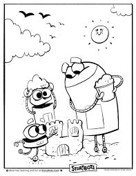 sandcastle coloring page eliolera com