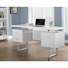 Office Depot Computer Desks Monarch Retro Style Computer Desk White By Office Depot Officemax