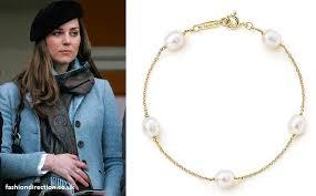 tiffany bracelet pearl images Kate middleton wearing a tiffany elsa peretti pearl gold bracelet jpg