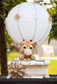 air balloon diaper cake for a fabulous baby shower