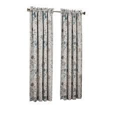 sun zero semi opaque steel gregory room darkening pole top curtain