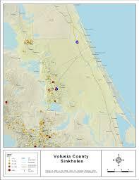map of deltona florida sinkholes of volusia county florida 2008