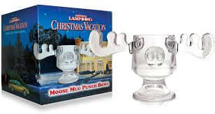 national loon s vacation clear glass moose mug punch bowl