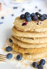 Blueberry Pancake Recipe Toasted Coconut Blueberry Pancakes Made With Brown Rice Flour