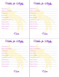 free baby shower wish card printables love every detail