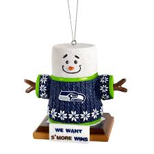 seattle seahawks smores ornament