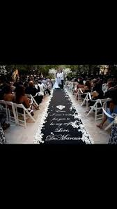 black aisle runner white petal aisle runner border by bighairandeyeliner on etsy