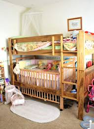 Crib Loft Bed Loft Beds Toddler Loft Bed With Crib Underneath Bunk Safety Rail