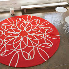 Pink And White Rug District17 Large Round Ribbon Rug In Red And White Round U0026 Oval