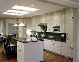 Cottage Galley Kitchen Kitchen White Galley Kitchen With Black Appliances Powder Room