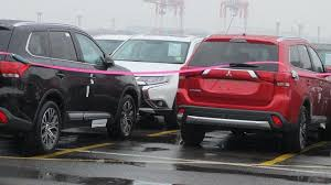 mitsubishi outlander sport 2016 red 2016 mitsubishi outlander facelift spied undisguised in japan