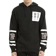 21 twenty one pilots big logo print winter casual black hoodies