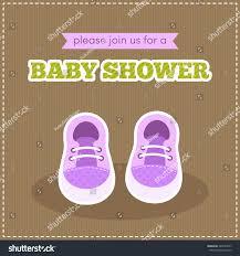 baby shower invitation illustration cute baby stock vector