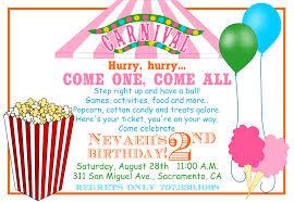 carnival birthday invitations u2013 gangcraft net