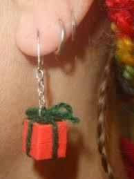 cow tag earrings christmas earrings mandybelcanto