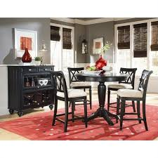 Jessica Mcclintock Dining Room Furniture American Drew Camden Black Round Counter Height Pedestal Table