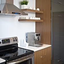 tablette cuisine armoires en melamine avec tablette decorative et comptoir de