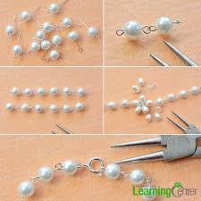 simple pearl bracelet images How to make a simple and elegant wire wrapped pearl flower jpg