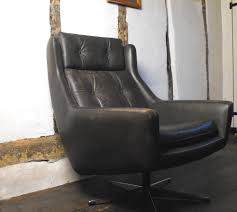 Leather Bucket Chair Antiques Atlas Vintage Leather Swivel Bucket Chair