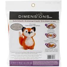 dimensions crafts 72 74043 fox needle felting kit