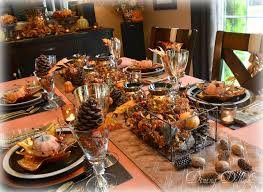 themed tablescapes dining delight autumn in the mountains tablescape